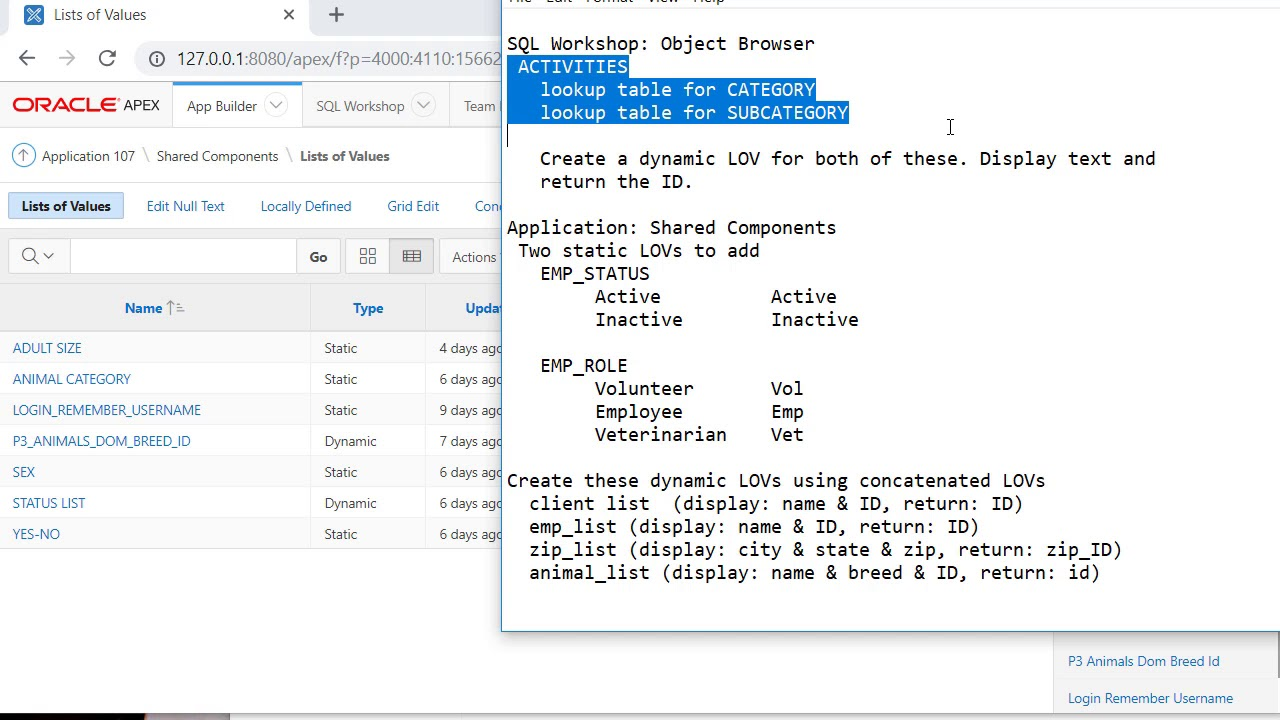 APEX12 of 30: SQL code to concatenate display columns in a dynamic LOV. APEX does LOV SQL code - YouTube