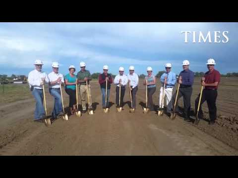 Ground gets broken on the new Fort Morgan Middle School on Monday, June 1, 2015, in southwest Fort M