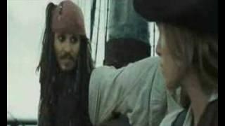 Piratas del caribe 2- Jack Sparrow y Elizabeth Swann