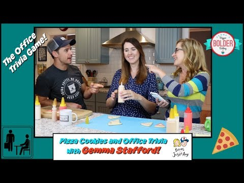 Pizza Cookies and Office Trivia With Gemma Stafford!!  Baking With Josh & Ange
