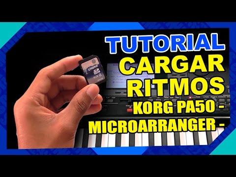 TUTORIAL CARGAR Y GUARDAR RITMOS KORG PA50 Y MICROARRANGER