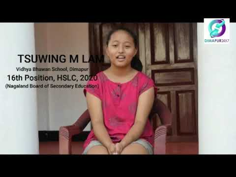 Short Briefing With HSLC Toppers 2020 NBSE   DIMAPUR24/7    NAGALAND