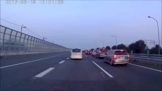 名神高速道路 連休は渋滞 一宮ジャンクションの様子  羽島インターから小牧インターまでの車窓 2017年3月19日