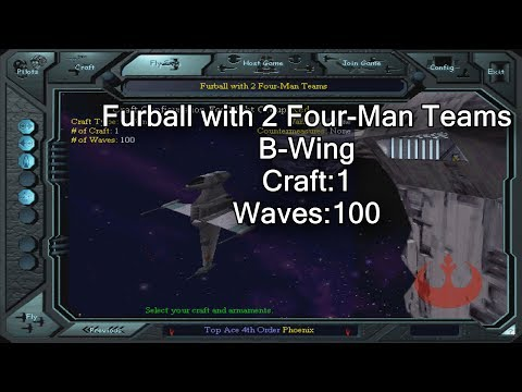 X-wing vs. TIE Fighter - Furball with 2 Four-Man Teams - B-Wing |