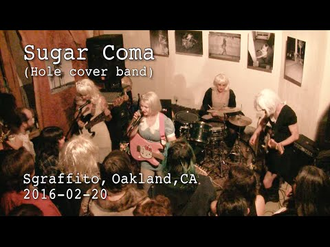 Sugar Coma (Hole cover band) 2016-02-20 at Sgraffito, Oakland, CA