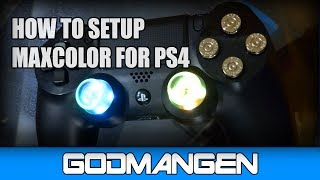 How to setup MaxColor Modchip for PS4 Controller/Dualshock 4 (DS4) Leds and Rapid Fire