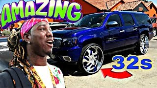 WENT TO THE HOOD TO FILM SOME CARS!!!!