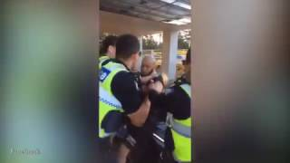 Police punches man in face during arrest at McDonalds carpark