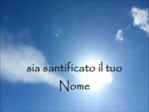 Padre nostro in italiano - Canto gregoriano