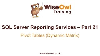 Reporting Services (SSRS) Part 21 - Pivot Table (Dynamic Matrix)