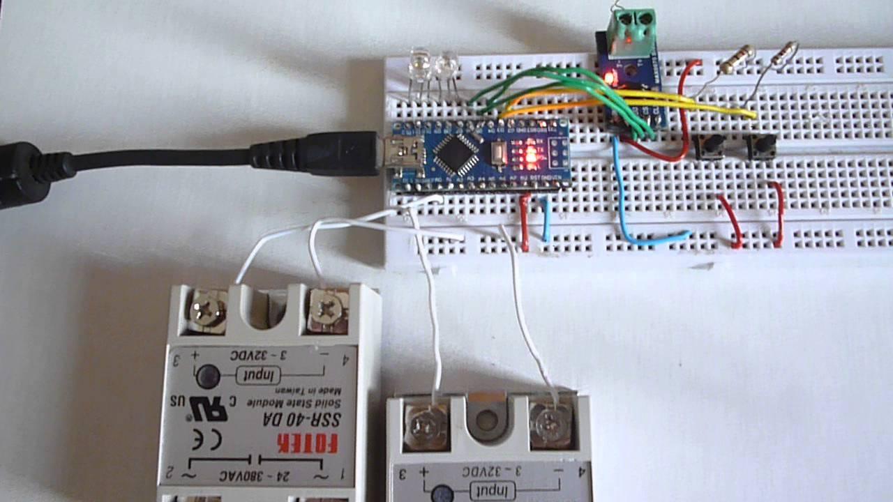 Max 6675   Arduino Nano   Ssr Fotek 40 Amp