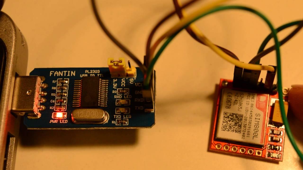 SIM800L minimum configuration