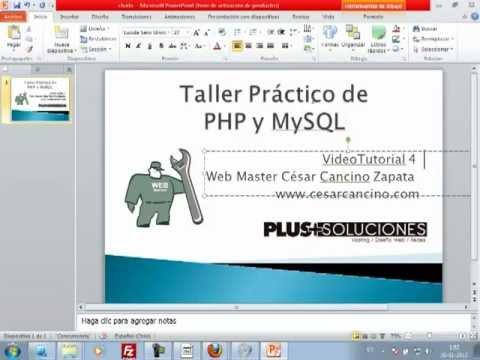 VideoTutorial 4 del Taller Práctico de PHP y MySQL