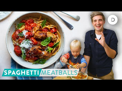 RECIPE: Speedy Spaghetti & Meatballs! Cooking with my son NOAH!