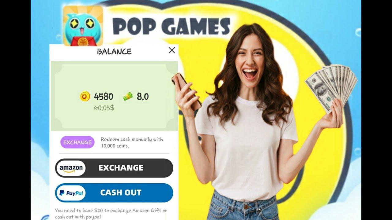 Pop Games aplikasi penghasil uang gratis tahun 2020 - YouTube