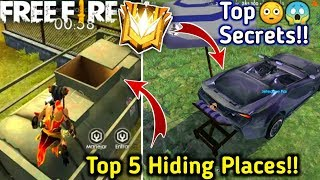 Top 5 Hiding Places in Bermuda Map🤫| Free fire Top Secret Locations😲