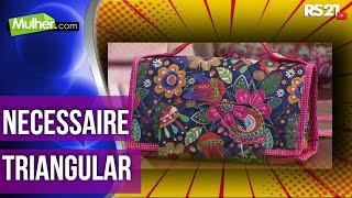Maleta/Necessaire triangular – Regina Heitor PT1