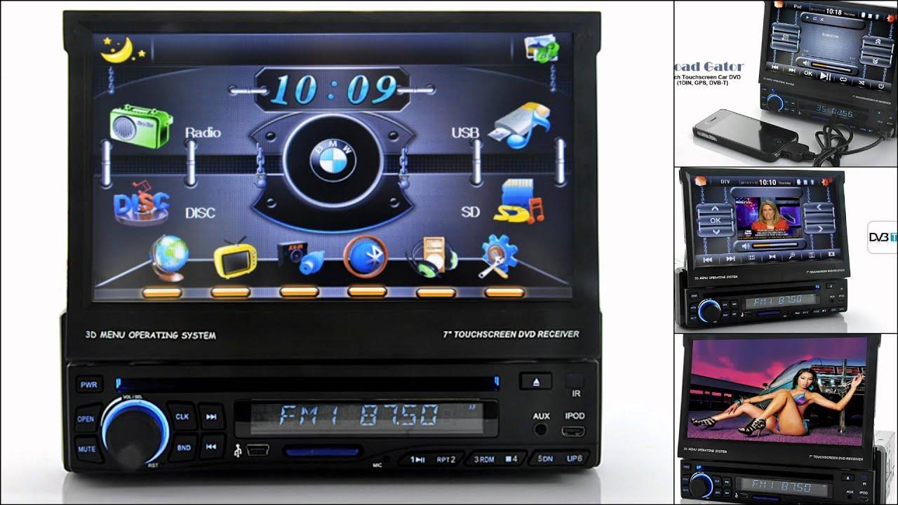 7 inch touchscreen car dvd 1din gps dvb t road gator china wholesale youtube