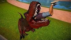 T Rex & Indoraptor Breakout & Fight - Jurassic World Evolution Dinosaurs Fighting