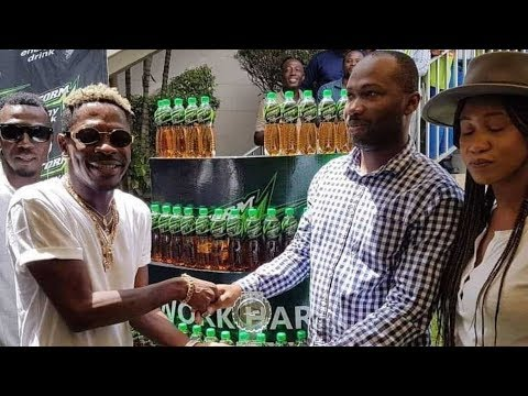Shatta Wale presented with Storm Energy Drink 'Marketing Campaign of the Year' award
