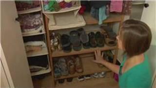 Closet Organizing Tips : Closet Shoe Storage