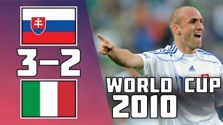 Slovakia VS Italy 3 2 Goals Highlights World Cup 2010