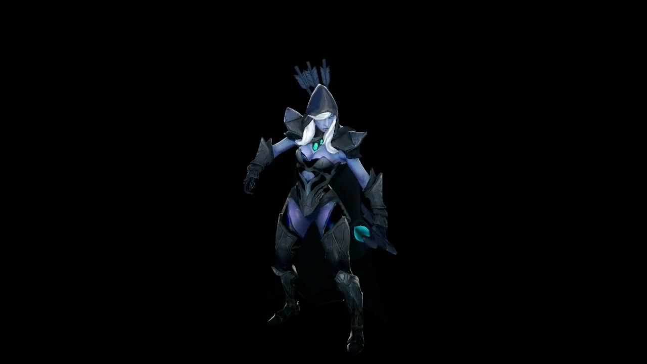 Dota 2 Drow Ranger Animations Youtube