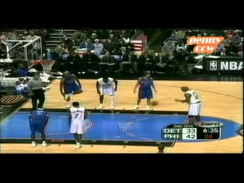 Allen Iverson 36pts vs Larry Brown the Pistons 03/04 NBA *Referee Unfair and Hate on AI