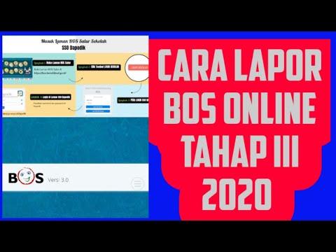 Cara Mudah Lapor Bos Online Tahap Iii Tahun 2020 Solusi Lapor Bos Online Terbaru Youtube