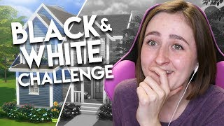 THE SIMS 4: BLACK AND WHITE BUILD CHALLENGE