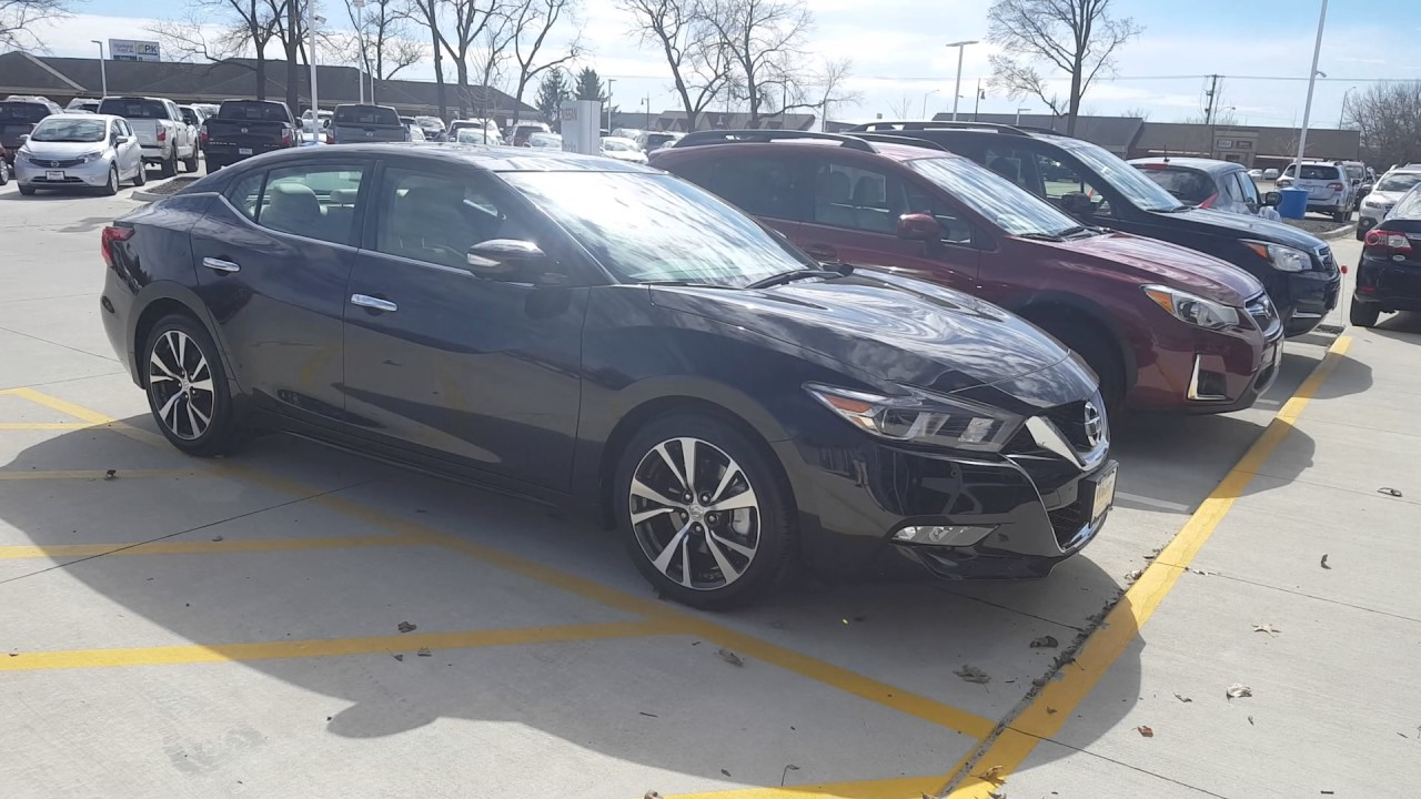 2017 Nissan Maxima Platinum Model In The Super Black Finish With Cashmire Leather Interior