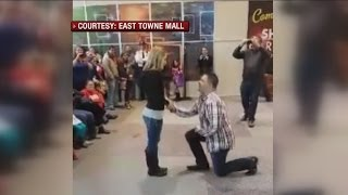 Flash mob proposal at East Towne Mall