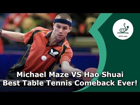 Michael Maze Vs Hao Shuai - Best Table Tennis Comeback EVER