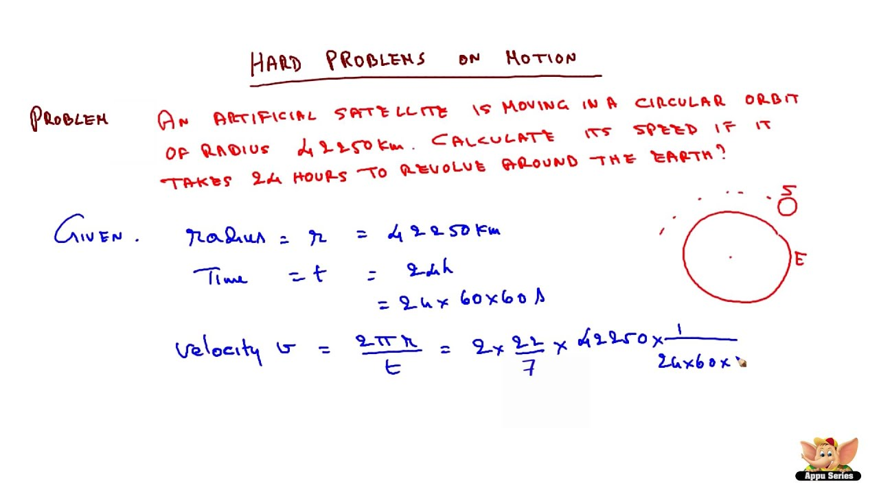 Hard Problems On Equation Of Motion And Uniform Circular Motion