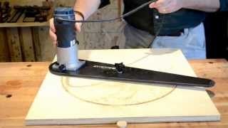Rockler Trim Router Circle Jig Review By Consulting Woodworker