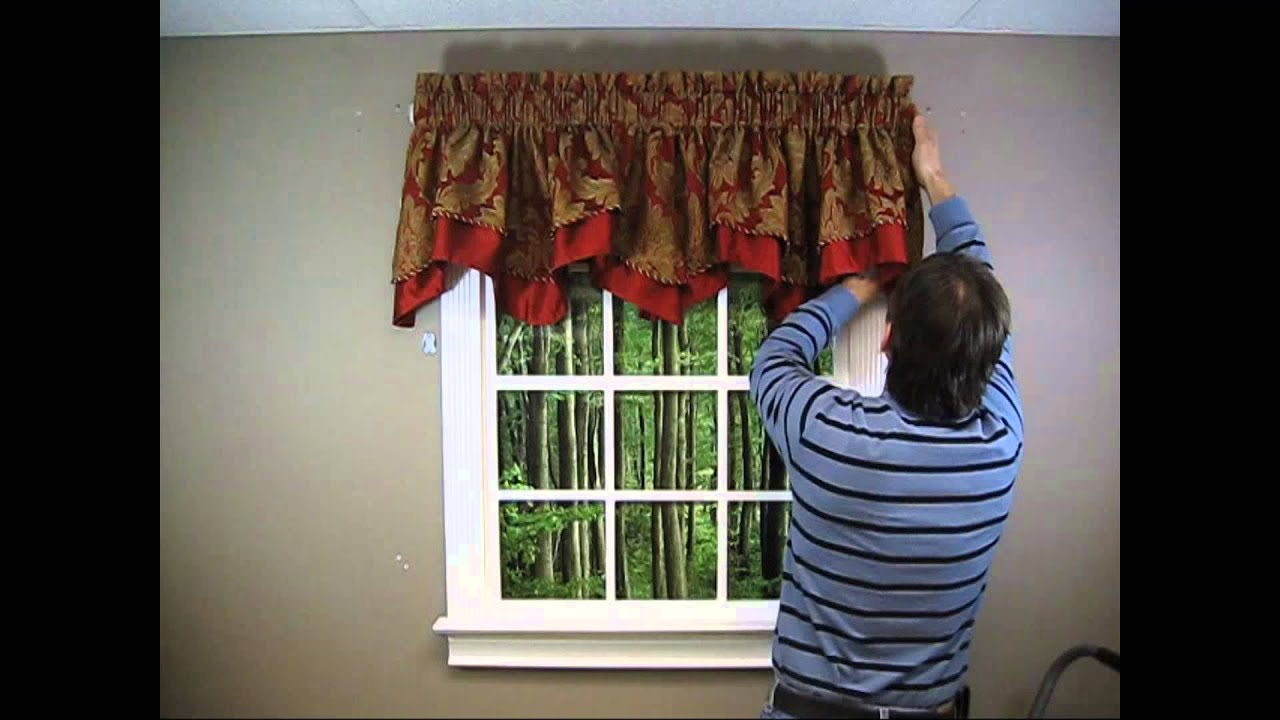 Scalloped Valance How to Hang  Two Looks  YouTube