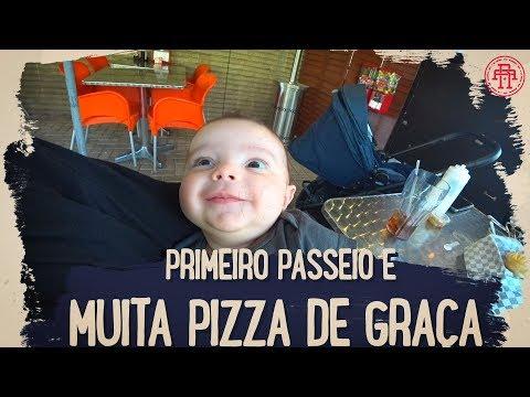 PRIMEIRO PASSEIO E MUITA PIZZA DE GRAÇA