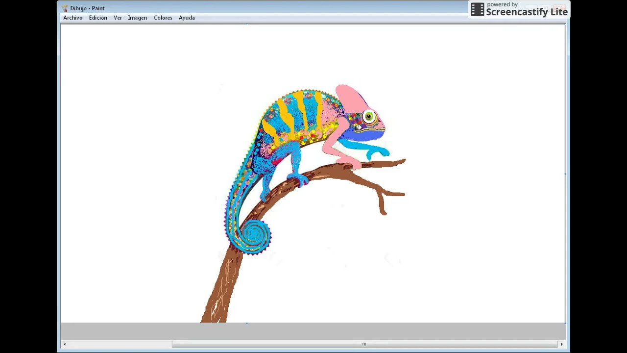 Drawing Cute Chameleon Changing Color For Kids With Children S