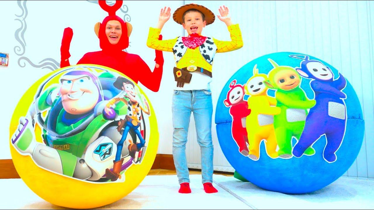 Макс и его новые игрушки в огромных яйцах