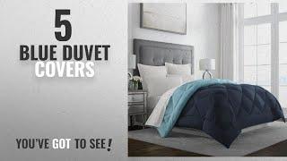 Top 10 Blue Duvet Covers [2018]: Sleep Restoration Goose Down Alternative Comforter - Reversible -