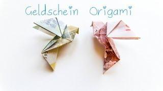 Repeat youtube video DIY Geldschein Origami Vogel - Geschenkidee