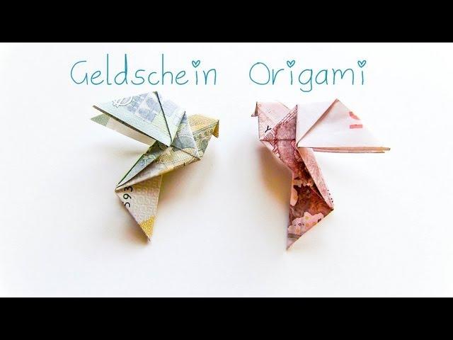 Diy Geldschein Origami Vogel Geschenkidee Clipfail Com