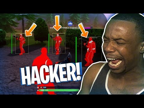 Playing With A Fortnite Hacker! NOT CLICKBAIT! Funny Moments And Rage!
