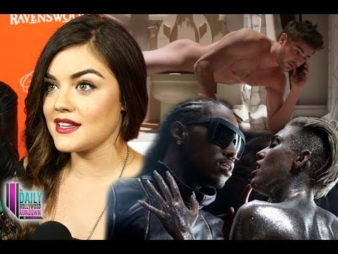 Zac Efron and Miley Cyrus NAKED! Lucy Hale Talks Ezria! Justin Bieber and Usher Dance Off!