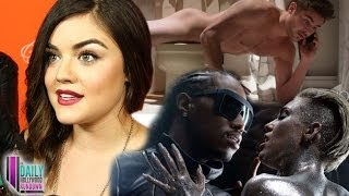 vuclip Zac Efron and Miley Cyrus NAKED! Lucy Hale Talks Ezria! Justin Bieber and Usher Dance Off!