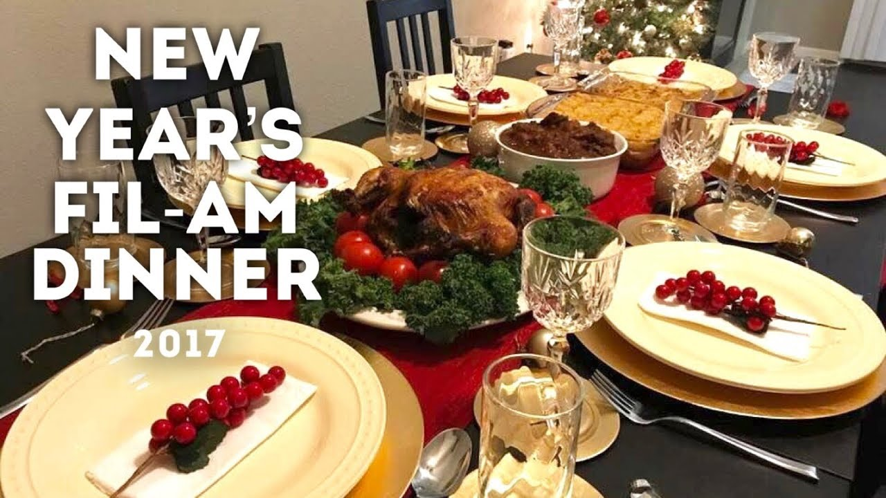 Filipino And Southern Cooking New Year S Eve 2017 Youtube