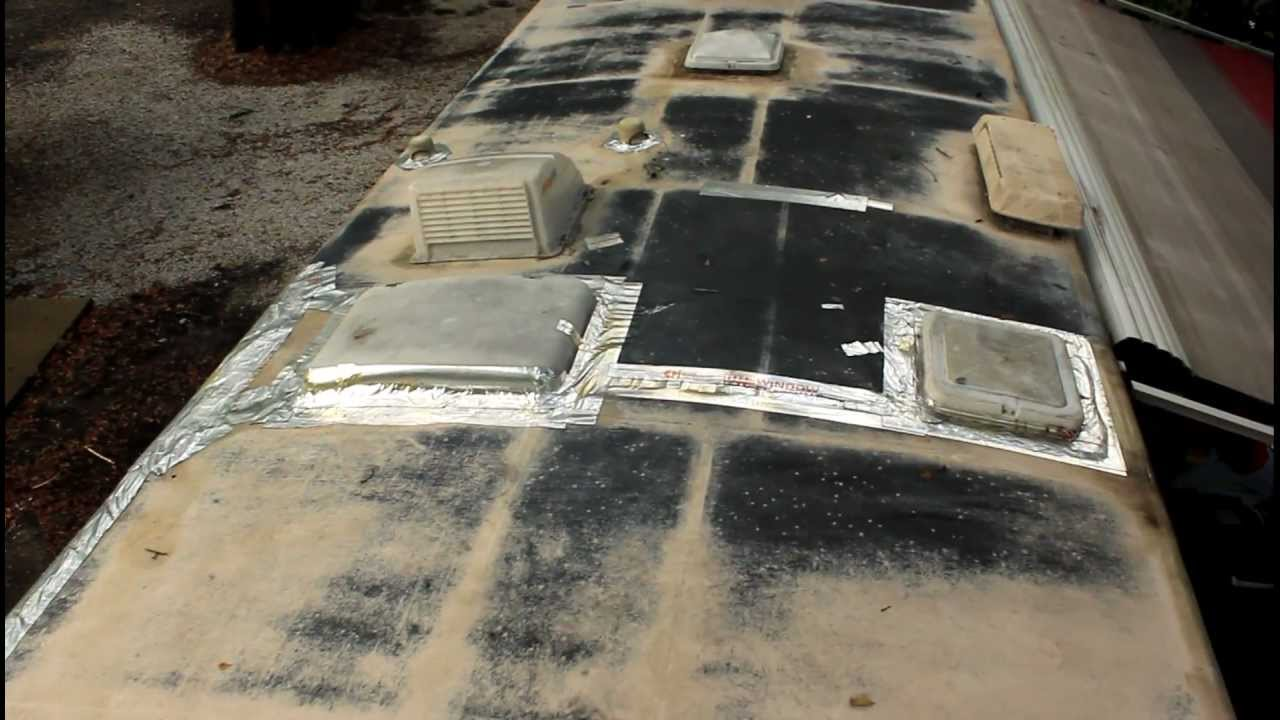 Rv Roof Repair Part 1 Youtube
