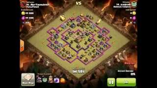 Proper funnel for dragons with rage gets 3 star on town hall 8 - clash of clans war attack strategy