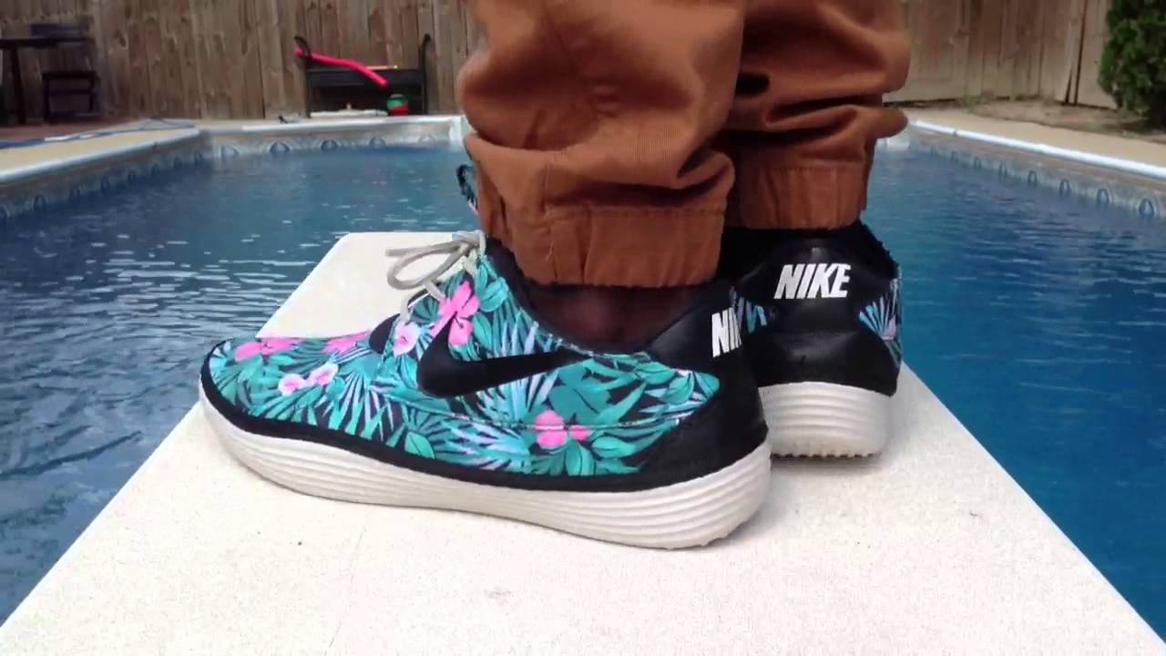nike solarsoft moccasin on feet