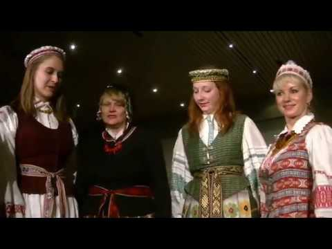 Traditional Costumes from Lithuania at Cleveland Multicultural Party